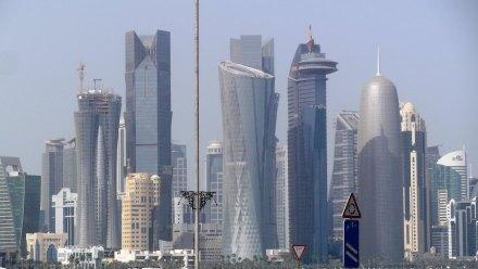 Doha Skyline, Al Bida Park, Westbay (2013). Jazeem Hamza / Wikimedia Commons