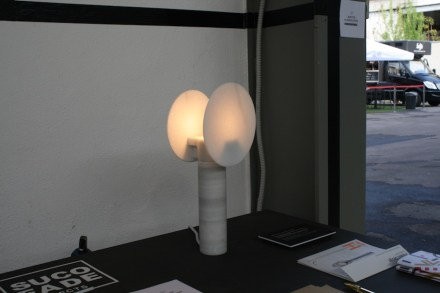 "Marble lamp ""Giro"", by Juan Carlos Fanes López. Photo: Peter Becker"