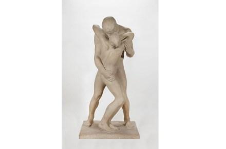 "Gertrude Vanderbilt Whitney: ""The Kiss"", 1933–35, Stone. Private collection. Photo: Jacek Gancarz"