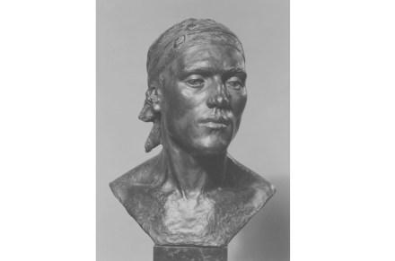 "Gertrude Vanderbilt Whitney: ""Head of a Spanish Peasant"", 1911, Bronze. Source: Rogers Fund / Wikimedia Commons"