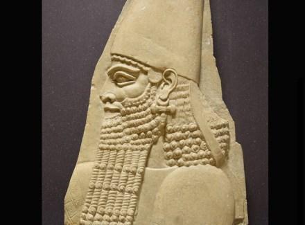 King Sargon II, limestone, 8th century BC. Photo: Rijksmuseum van Oudheden