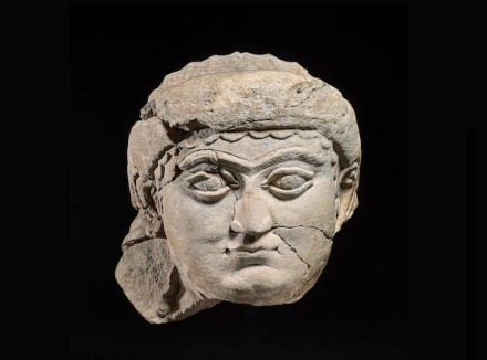Head of a woman, limestone, c. 700-625 BC; found in Nineveh. It probably comes from one of the shrines in Nineveh. A similar sculpted head was found in the temple dedicated to the goddess Ishtar in Assur, another Assyrian capital somewhat to the south of Nineveh. This may, therefore, represent the goddess, although this is only a very tentative theory. Collection and photo: ©The Trustees of the British Museum