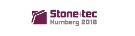 Logo of Stone+tec fair, Nuremberg.