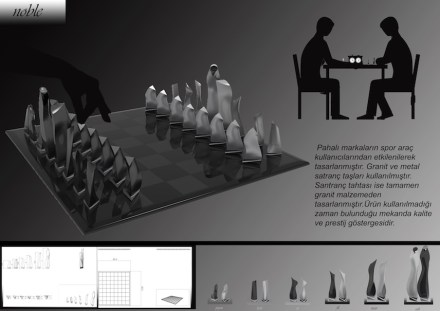 "Students, Category decorative products, Honorable Mention: Tuğba Saridemir (Erciyes University): ""Noble"", chess."