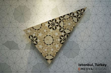 Mosaic 4.0 was the name Gökhan Karakus of Emedya Design Studio, Turkey gave his draft based on Islamic geometric art.  Silkar/Akdo Company was the producer of the prototypes.