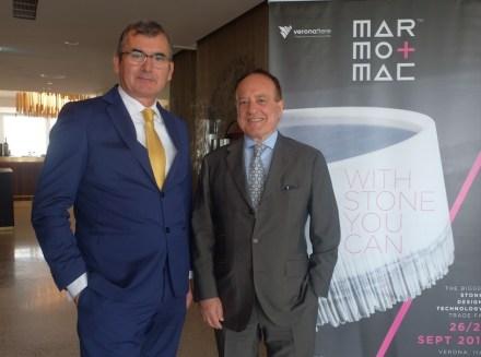 Maurizio Danese (President of Veronafiere, left) and Giovanni Mantovani (CEO of Veronafiere, right).