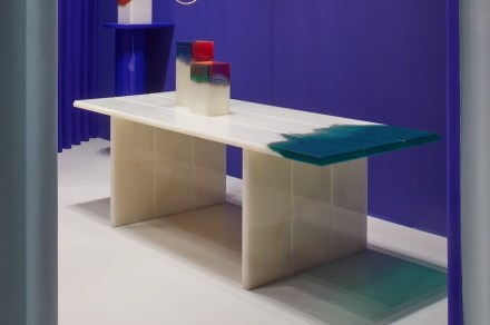 "Budri, Patricia Urquiola: table ""Orilla"" from ""Agua"" collection."