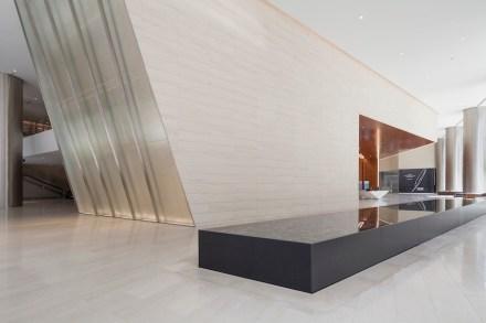 CID-Awards: Installation category, Commercial Stone. Project: 609 Main. Installer:  Camarata Masonry Systems, Ltd. Location: Houston, TX.