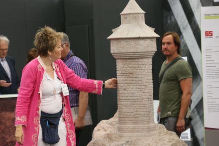 """Presentation """"Unser Naturstein"""": Sinwell-Tower, Nuremberg, <a href=""""https://gs-schenk.de/""""target=""""_blank"""">GS Schenk Bauunternehmung</a>."""