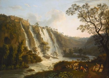 "Jacob Philipp Hackert, ""Maecenas' Villa and the Waterfalls at Tivoli"", 1783. Source: State Hermitage Museum, St Petersburg"