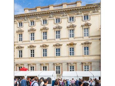 Teil der Außenfassade, schon ohne Gerüste. Foto: Stiftung Humboldtforum im Berliner Schloss