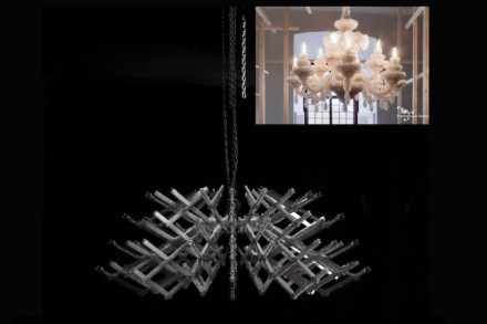 Das Tragegerüst, auf dem die Kristalle wachsen sollen, und ein Vorläufermodell.