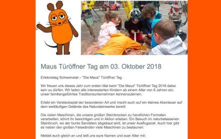 """Carl Picard Natursteinwerk: """"Türen Auf""""."""
