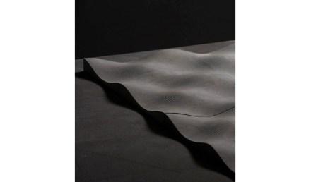 """Surface """"Strazza"""". Design: Ludson Zampirolli; company: Granduvale; quartzite Anthracite."""