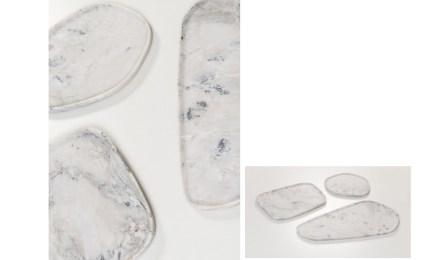 "Trays ""Árdea"". Design: Estúdiobola; company: Amagran; marble Superlative."