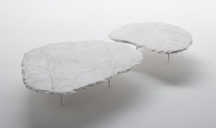 "Coffee table ""Fenda"". Design: Jacqueline Terpins; company: Pettrus; quartz Crystal."