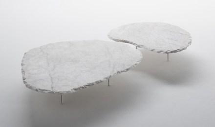 "Coffee table ""Fenda"". Design: Jacqueline Terpins; company: Pettrus; quartz Crystal."