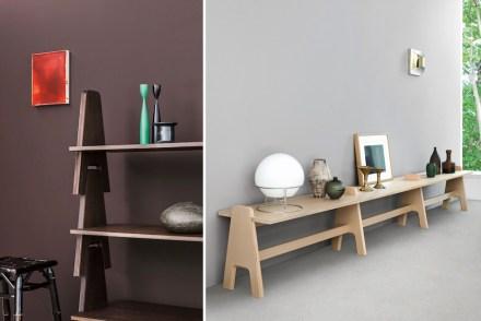 "Angelo Mangiarotti: shelf ""Cavalletto""."
