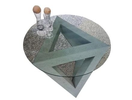 Arnold Lorenz, Tisch, 60 cm x 85 cm x 60 cm, Rorschacher Sandstein.
