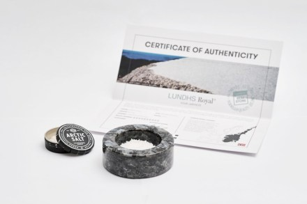 The Salt Bowl made from the same stone as a purchased countertop. Screenshot of the company's webpage.