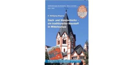 """Broschüre """"Dach- und Wandschiefer - ein traditioneller Baustoff in Mitteleuropa von H. Wolfgang Wagner."""
