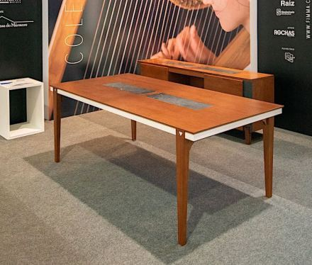 """Harpa"" Collection. Design: Juliana Desconsi for Tremarim, stone works by Micfel."