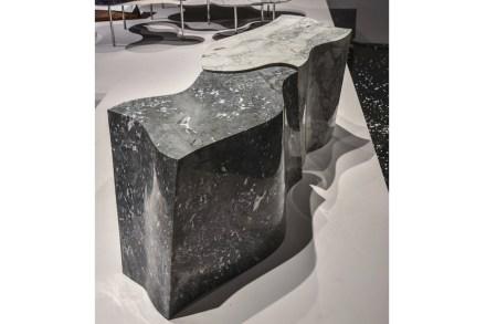 "Bench ""Organic"". Design Fernanda Marquez. Company: Corcovado Brasigran. Stone: marble Raffaello."