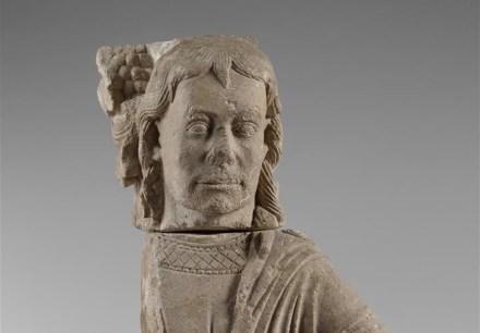 Samson bezwingt den Löwen (Detail), Samsonmeister, um 1220, Benediktinerabtei Maria Laach.