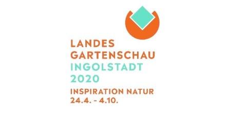 Das Logo der bayerischen LaGa 2020 in Ingolstadt.