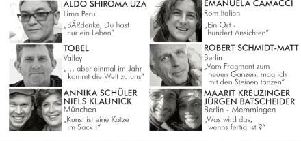 """Die Teilnehmer des Bildhauersymposiums """"Kunstdünger"""" 2019."""