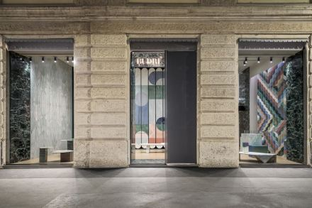 The new Budri Showroom in downtown Milan.