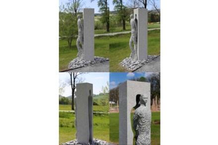 """""""Der Erste Schritt"""" nannte Bildhauer Walter Baumann seine Arbeit in Kooperation mit Poschacher Natursteinwerke"""