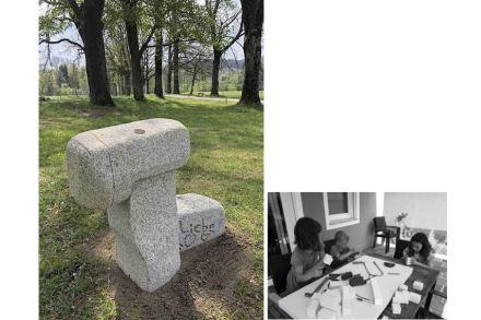 """Kinderskulptur"" (""Children's' Sculpture"") is the name Raimund Fuchs gave his and his children's work."