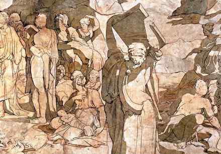 Moses at the Sinai (detail).
