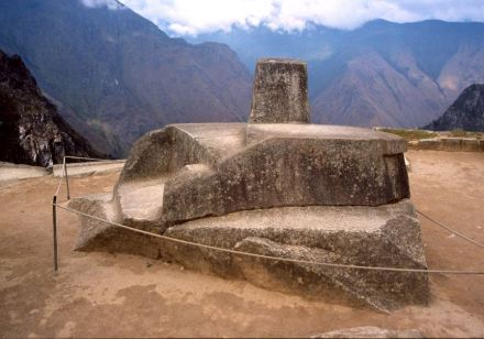 """The Intihuatana Stone which is believed to have been a tool to define a calendar. Photo: Colegota / <a href=""""https://commons.wikimedia.org/""""target=""""_blank"""">Wikimedia Commons</a>"""