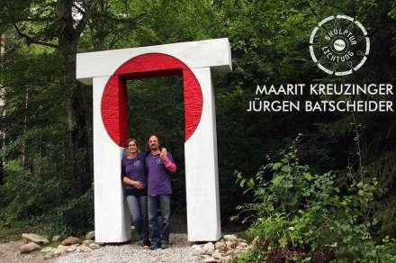 Maarit Kreuzinger und Jürgen Batscheider (Berlin, Memmingen) erstellten ein Tor als Sinnbild für Transformation.