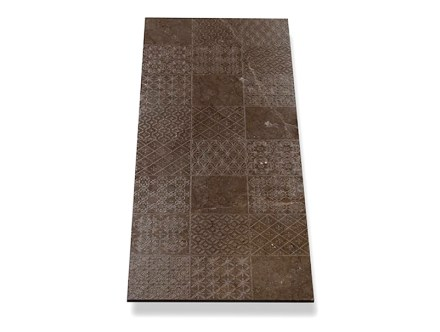 "Tile Collection: ""Patchwork"", Marble Dark Olive."