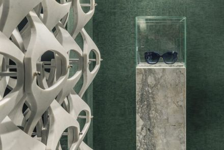 Marble Lace Screen (left) and marble glasses frame.