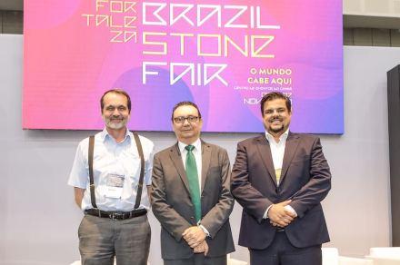 F.l.t.r: Peter Becker, Carlos Rubens A Alencar, Dr. Pedro Amaral.