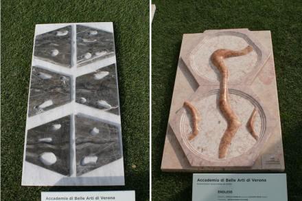 "Verona Academy of Fine Arts: ""Wormhole"" (left), ""Endless""."