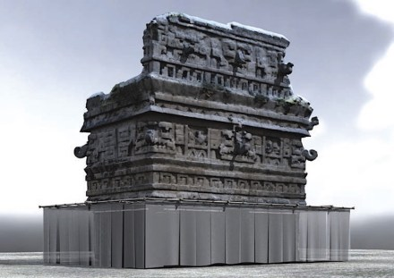 Reconstruction of the Iglesia of Chichén Itzá. Rendering: Alejandro Campoverde