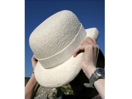 "Peter Crinnion: ""Stone Bowler"", 2006, Portland stone, 260mm high."