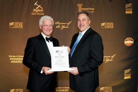 Jack Seiders (left) receives the 2019 Migliore Award for Lifetime Achievement.