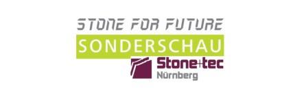 """Logo des Wettbewerbs """"Stone For Future"""" im Rhamen der Stone+tec 2020."""