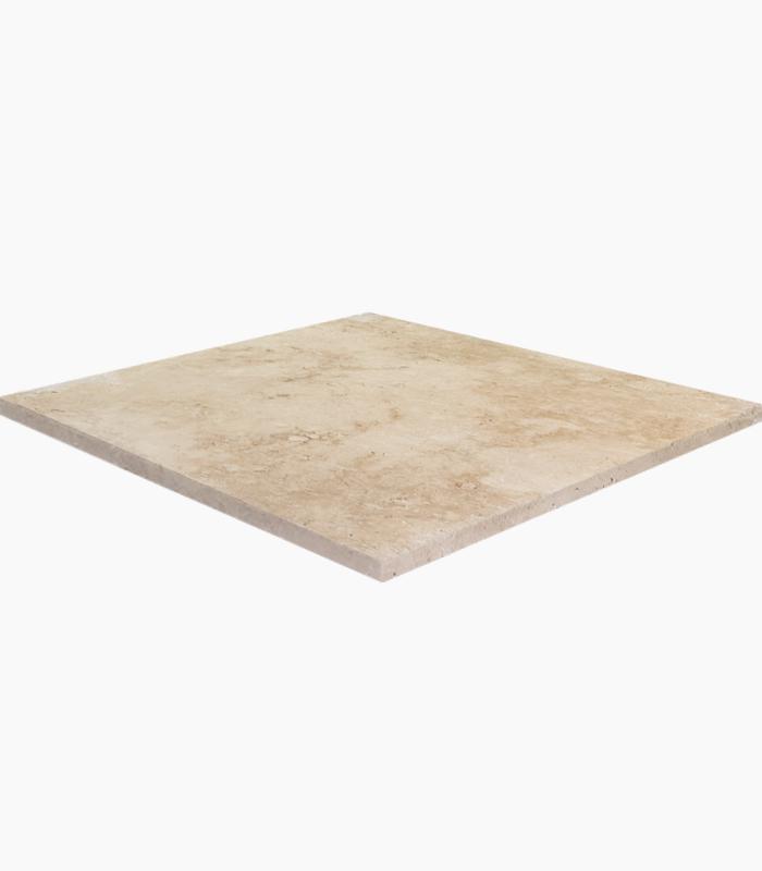 18x18 ivory tumbled travertine tile