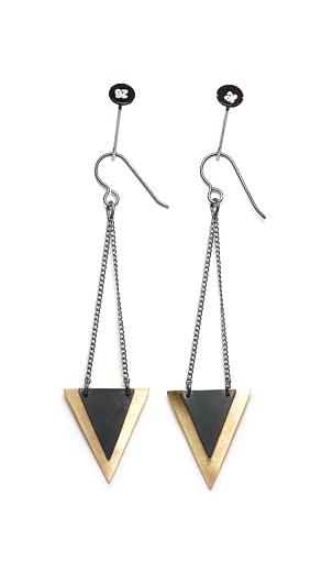 Isosceles Earrings from Stone & Honey