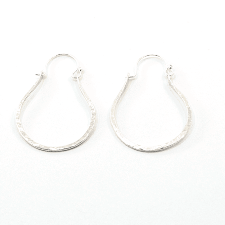 EK01048 14g Loop Textured Earrings 3