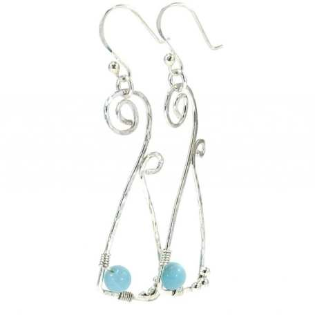 EK01089 Stirling Silver and Light Blue Spiral Geometric Earrings_1_050420