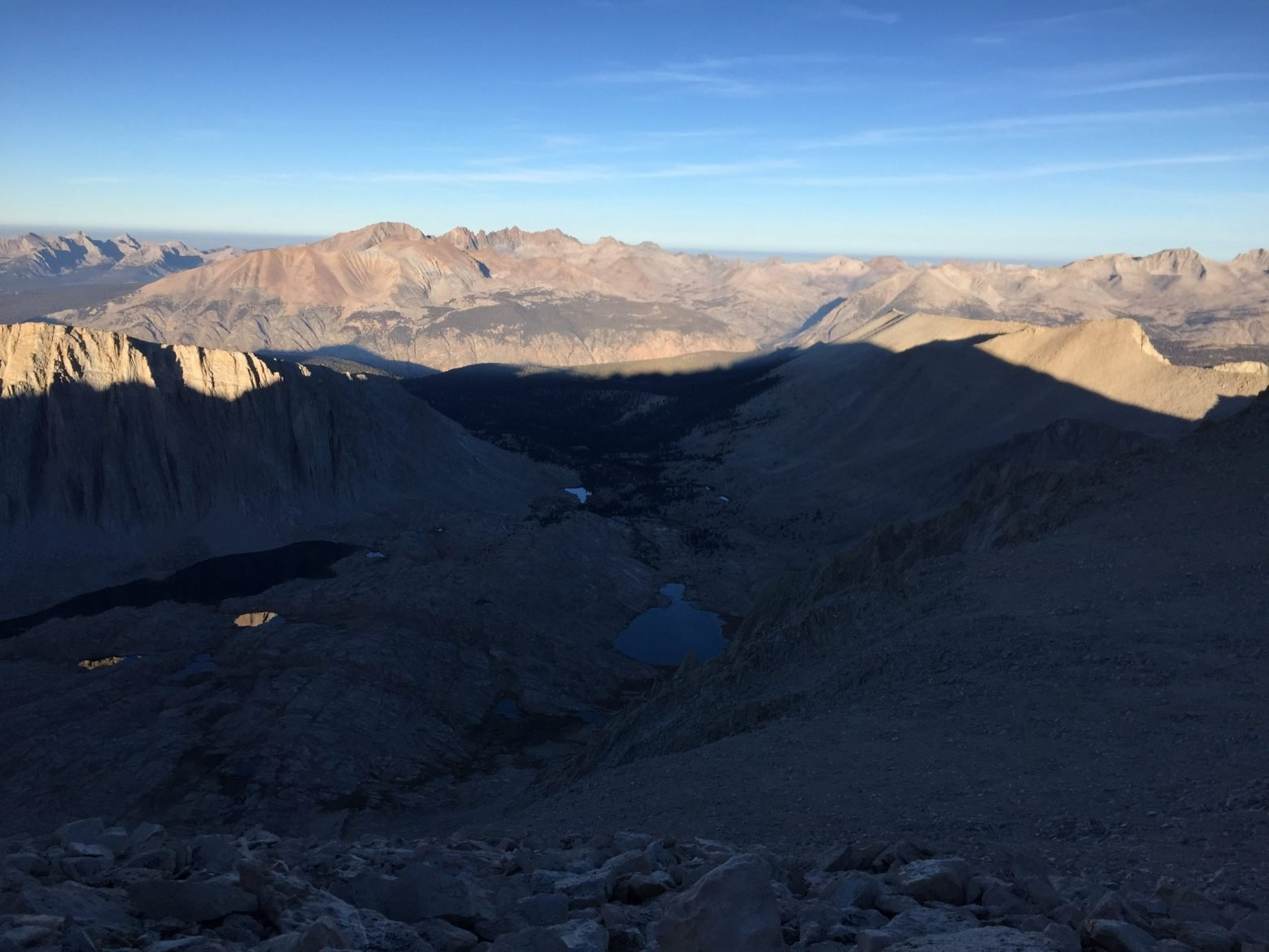 Climbing down from the summit of Mt. Whitney (2)