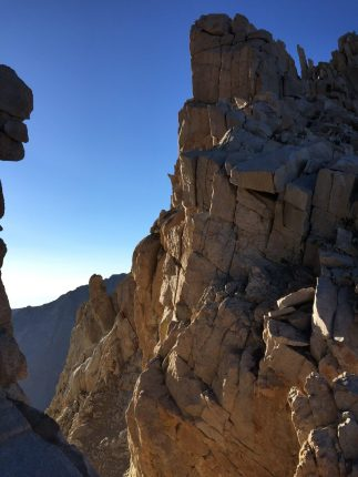 Climbing down from the summit of Mt. Whitney (7)